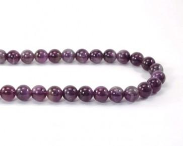 Edelsteinperlen, Amethyst Perlen, rund, violett, 10 mm, 1 Perlenstrang