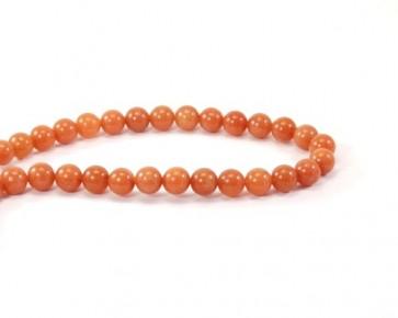 Roter Aventurin, Perlen, rund, Kugel, 8 mm, 1 Perlenstrang