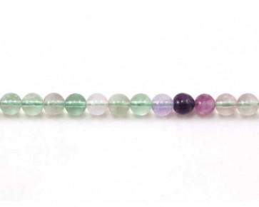 Regenbogen-Fluorit Perlen, rund, 6mm, 1 Perlenstrang