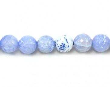 Crackle Achat, Drachen Achat Perlen, rund facettiert, 14mm, 1 Perlenstrang