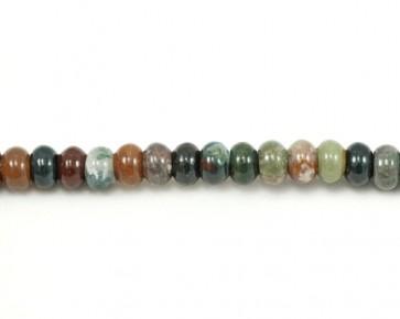 Indischer Achat Perlen, Rondellen, mehrfarbig, 8mm, 1 Perlenstrang