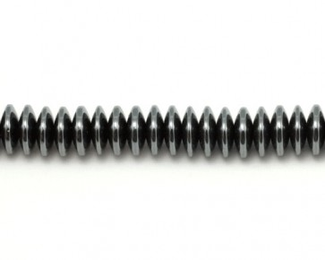 Hämatit Perlen, Linsen / Rondellen, dunkles silber, 10 mm, 1 Perlenstrang