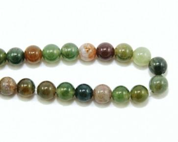Indischer Achat Edelstein Perlen, rund, mehrfarbig, 6 mm, 1 Strang