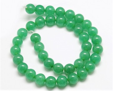 Malaysia Jade Perlen, Edelsteinperlen, rund, grün, 4 mm, 1 Perlenstrang