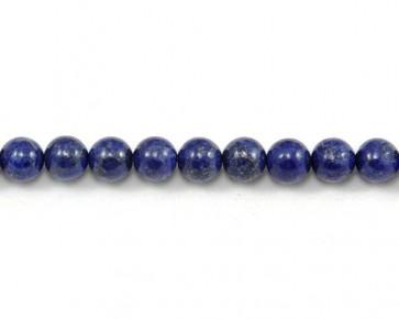 Lapis Lazuli Edelstein-Perlen, 8 mm, rund, dunkelblau, 1 Perlenstrang