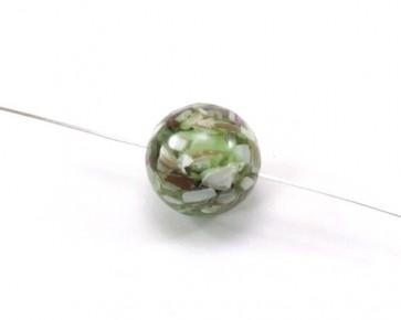 Perlmutt-Resin Perle, rund, 18 mm, hellgrün, 1 Perlmuttperle