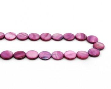 Perlmutt-Perlen, Scheibe, violett, 15 mm, 1 Perlenstrang