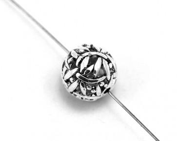 Metallperlen, 14mm, Kugel Libellen, antik silberfarbig, 2 Perlen