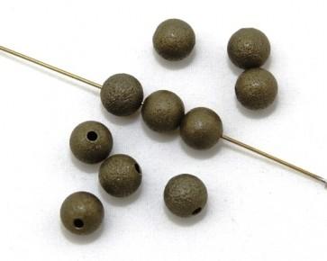 Metallperlen, 6 mm, rund, antik bronzefarbig, 20 Perlen