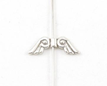 Metallperlen, Engelsflügel Perlen, silber, 22 x 7 mm, 20 Perlen