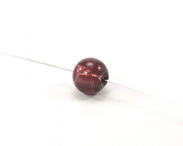 Glasperlen mit Silberfolie, 12mm, rund, weinrot, 15 Perlen