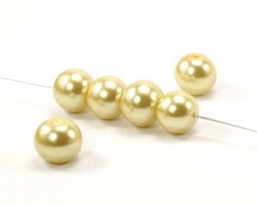 Glaswachsperlen, ø 10 mm, rund, goldgelb, 40 Perlen
