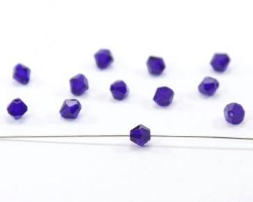 Crystal Glasschliffperlen, 6 mm, Bicones, kobaltblau, 20 Stk.