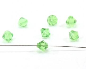 Glasschliffperlen, facettierte Glasperlen, 8mm, Bicone, peridot grün, 20 Perlen