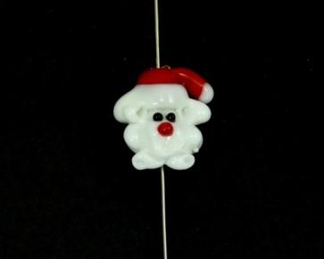 Lampwork Glasperlen, Weihnachtsmann, 23 x 20 mm, 1 Perle