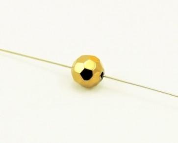 Glasschliffperlen, facettierte Glasperlen, 10mm, rund, kupfer, 20 Perlen