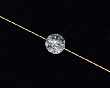 Crackle Glasperlen, 10mm, rund, kristall transparent, 50 Perlen