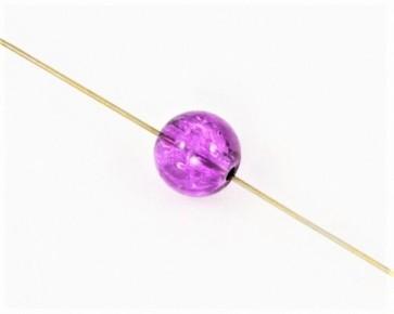 Crackle Crash Glasperlen, 10mm, rund, violett, 50 Stk.