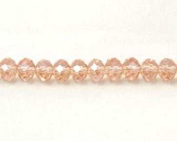 Glasschliffperlen, facettierte Glas-Rondelle, 8 mm, lachs-rosa, 50 Perlen