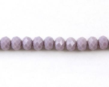 Glasschliffperlen, facettierte Glasrondelle, 8 mm, pastell violett opak, 50 Perlen