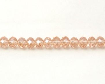 Glasschliffperlen, Glas-Rondellen facettiert, 4mm, lachs-rosa mit Lüster, 100 Perlen