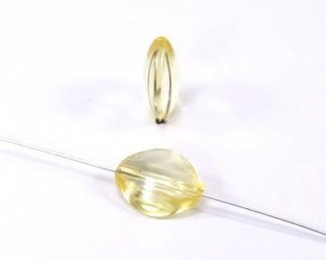 Acrylperlen transparent, oval, 17x14mm, gelb, 10 Perlen
