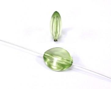 Acrylperlen transparent, oval, 17x14mm, grün, 10 Perlen