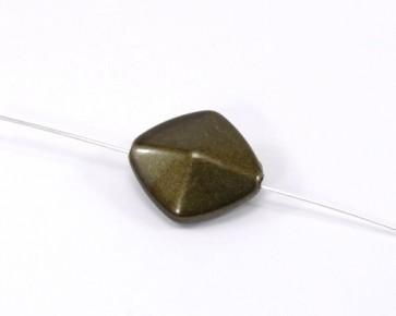 Acrylperlen, Rhombus, 23x21mm, olivgrün, 20 Perlen