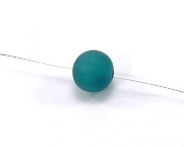 Harzperlen im Stil von Polarisperlen, rund, meeresgrün, 14-15 mm, 10 Perlen