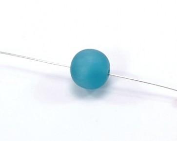 Harzperlen im Stil von Polarisperlen, rund, türkis, ø 14-15 mm