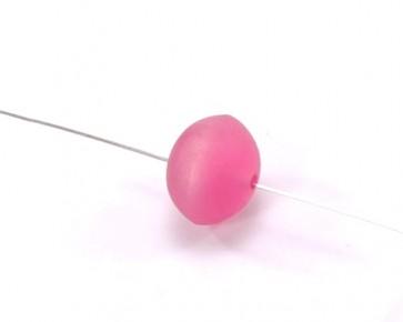 Bastelperlen, Harzperlen im Polaris-Stil, Linse, pink, 14x18mm