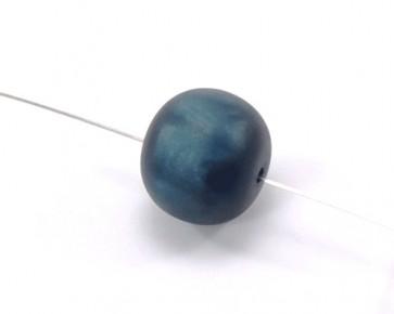 Harzperlen im Stil von Polaris Perlen, rund, dunkelblau, 19-21 mm, 5 Perlen