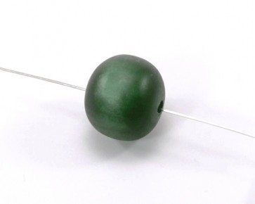 Harzperlen wie Polaris Perlen, rund, dunkelgrün, 19-21 mm, 5 Perlen