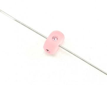 Swarovski Crystal Perlen, Rondellen, 10mm, rosa matt, 2 Stk.