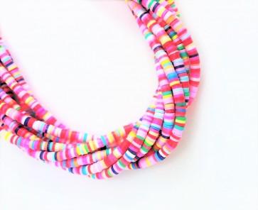 Katsuki Perlen, 4mm, Rondellen, bunter Farbmix, 1 Strang