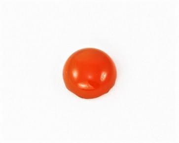 Edelstein-Cabochons, Karneol, rund, orange-rot, 10 mm, 2 Stk.