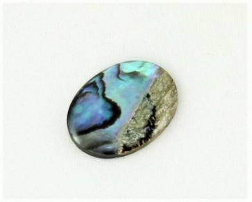 Cabochons, Paua Muschel (Abalone), oval, 16 x 12 mm, 1 Stk.