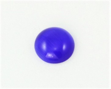 Cabochons, Katzenaugen-Glas, rund, blau, 12 mm, 1 Stk.