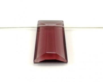 Schmuckanhänger, Glas-Anhänger Trapez facettiert, amethyst violett, 29 x 21 mm