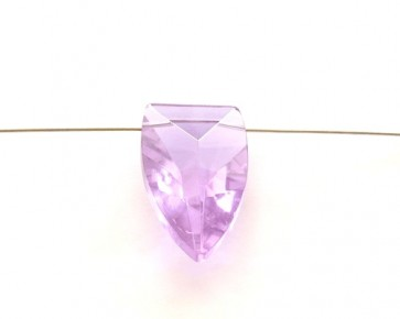 Kristallglas Anhänger Schild facettiert, lila, 32 x 18 mm