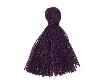 Mini Schmuckquasten, Baumwolle, violett, 25mm, 3 Quasten