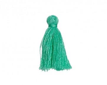 Mini Schmuckquasten, Baumwolle, smaragdgrün, 25mm, 3 Quasten