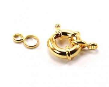 Federring Schmuckverschluss, goldfarbig, 17 mm, 1 Stk.