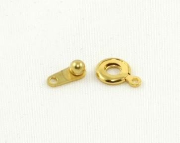 Schmuckverschlüsse, Druck-Verschluss, vergoldet, nickelfrei, 7.5 mm, 4 Stk.