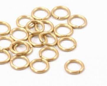 Biegeringe, Schmuckösen, 6mm, matt gold, offen, Aluminium, 50 Stk.
