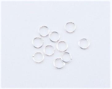 Biegeringe, Schmuckösen, offen, 925 Sterling Silver-Filled, 6mm, 10 Stk.