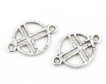 Metallzwischenteile Verbinder, Kreuz, antik silberfarbig, 20x13.5mm, 5 Stk.
