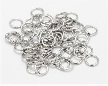 Binderinge, geschlossene Schmuckösen, silber / platin, 7mm