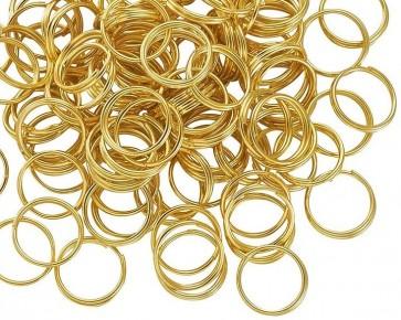Spaltringe, Schmuckösen, Doppelringe, goldfarbig, 6 mm, XL-Pack 500 Stk.