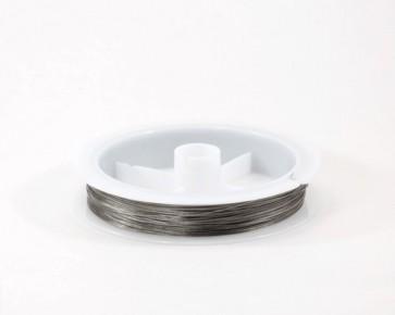 Schmuckdraht, Edelstahldraht, silbergrau, 0.45mm, XL-Spule